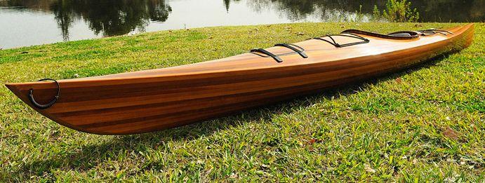 Cedar Wood Strip Built Kayak Wooden 17 Woodenboat Usa Wooden Kayak Wood Kayak Kayaking