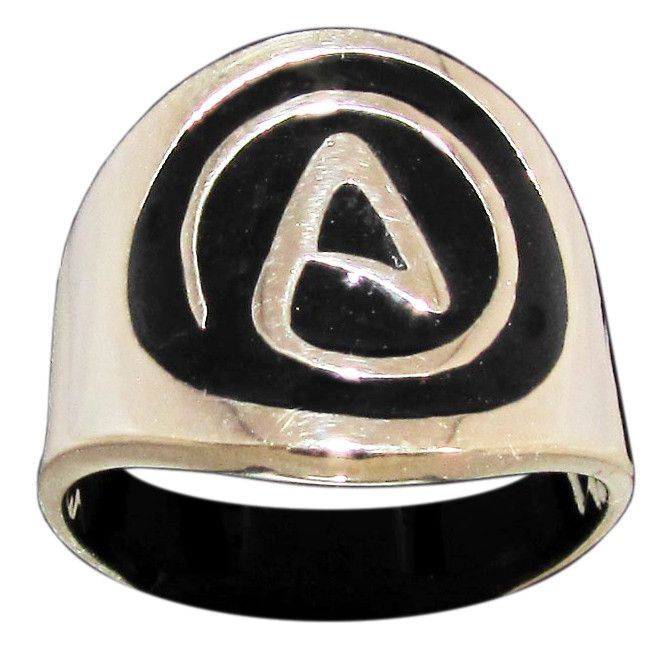 Atheism Ring Atheist Symbol In Bronze Atheist Symbol And Products