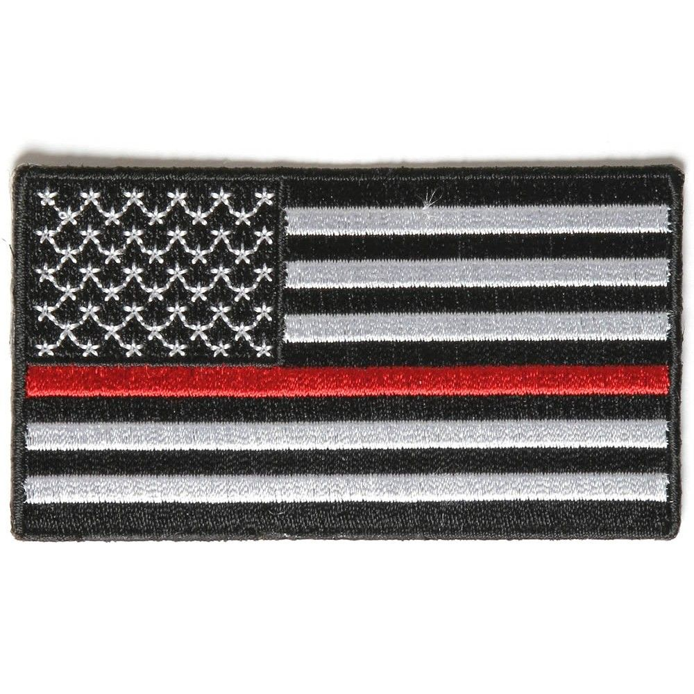 Reversed Us Flag Patch 4 Inch Black Border Flag Patches Flag Patches