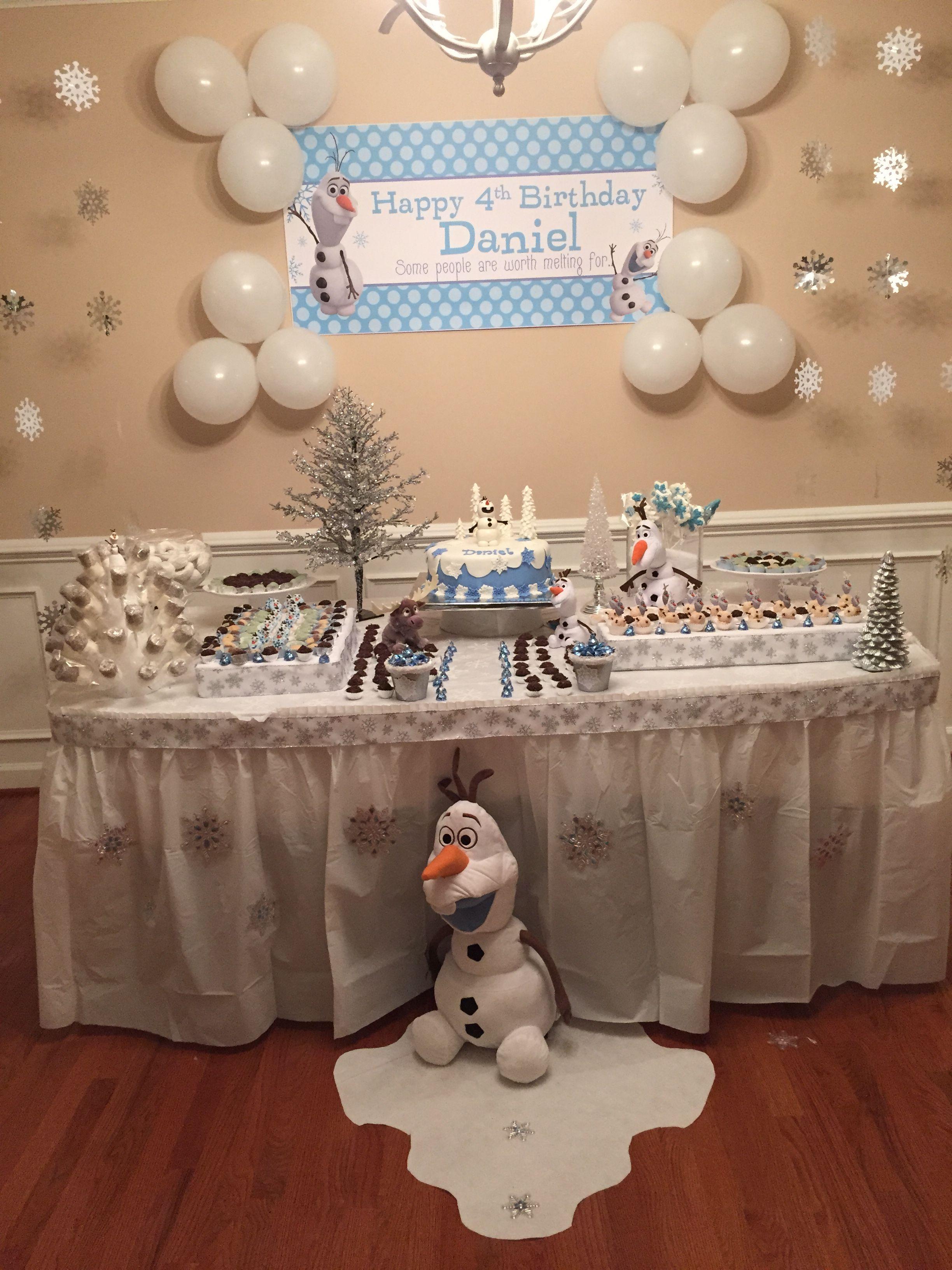 Olafs Birthday Party For Boys Olaf Frozen 4th