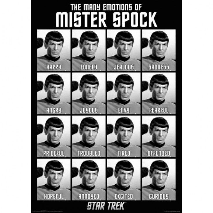 24x36 Star Trek Spock Many Emotions Poster Leonard Nimoy