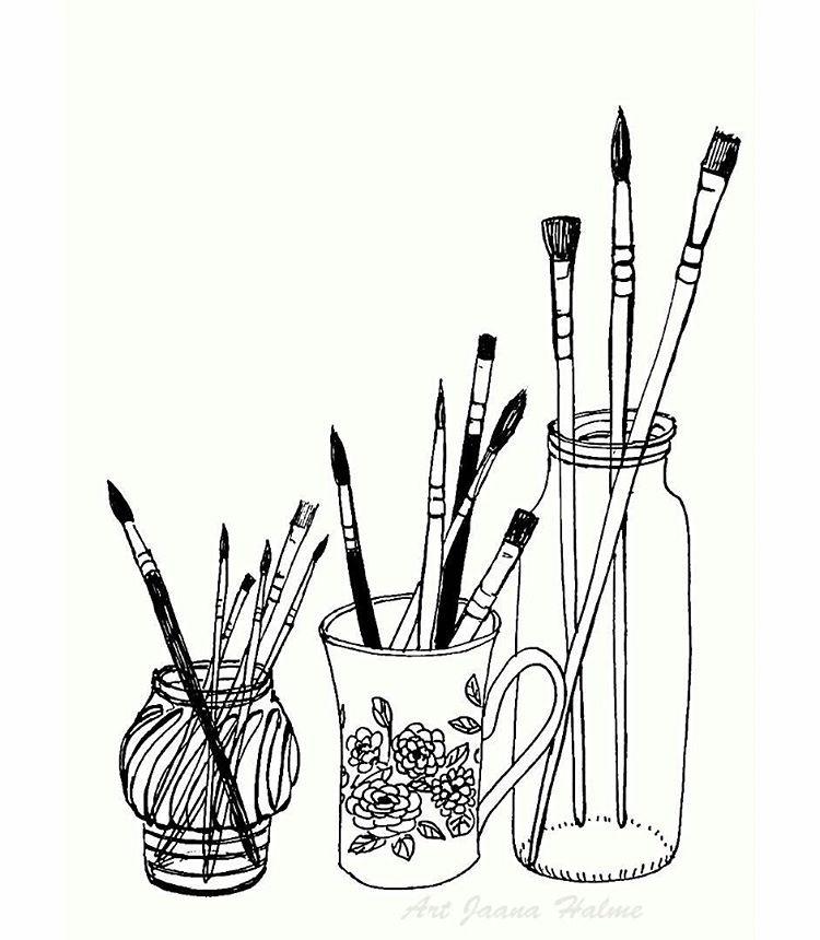 Line Art Brushes Photo : Jaana halme … doodles sketches journals pinte…