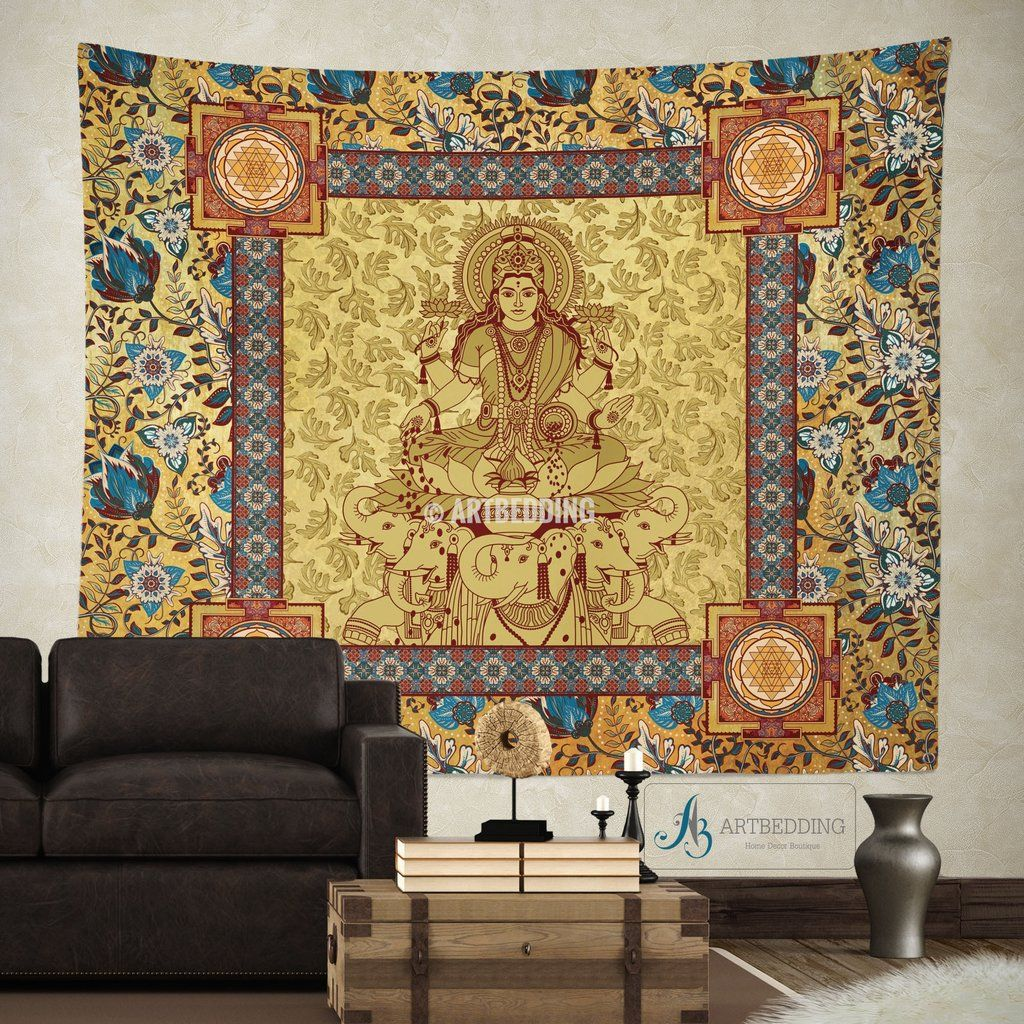 Boho budha Tapestry, Sacred Yantra wall tapestry, Hippie tapestry ...