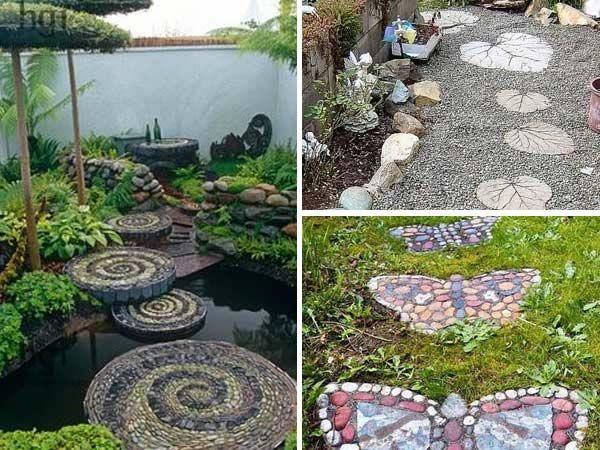 23 diy stepping stones to brighten any garden walk diy for Diy garden path designs