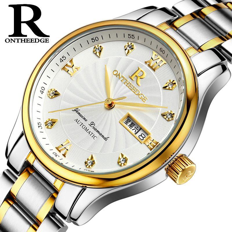 3f69dd488e8 2017 New Top R-ONTHEEDGE Brand Luxury Watch Men Fashion Ultra Thin Waterproof  Watches Casual Quartz Wristwatch Reloj Hombre Hot