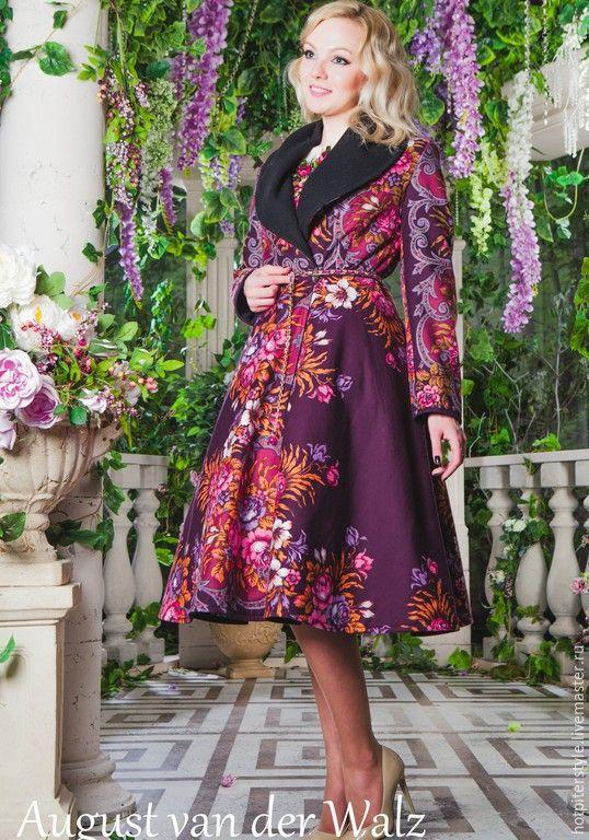 224c93887e5 Купить Пальто в Русском Стиле - орнамент