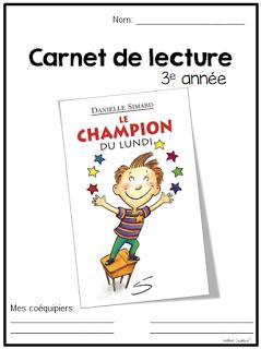 La classe de madame val rie carnet de lecture fran ais pinterest french immersion school - Office des lectures du jour ...