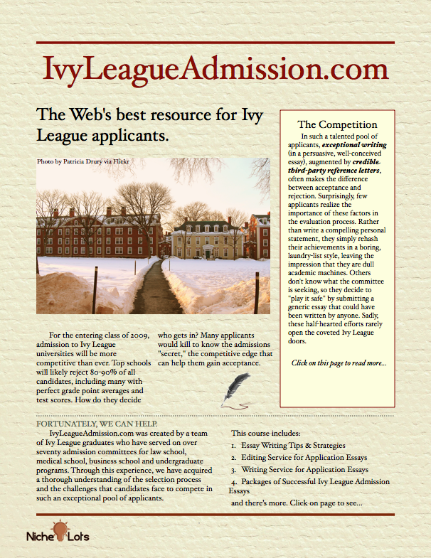 If you're interested in attending an Ivy League ... | Helpful ... on application template, thesis sample, application resume sample, business proposal sample, research proposal sample, case study sample, preliminary bibliography sample, report sample, reaction paper sample, application architecture sample, college application sample, business budget sample, salary slip sample, letters of recommendation sample, blank check sample, application writing sample, mla bibliography sample, application paper sample,