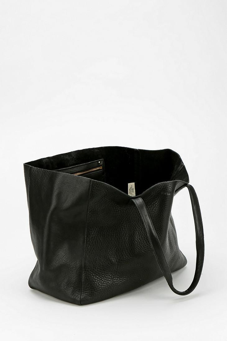 Baggu Oversized Leather Tote Bag Urbanouters