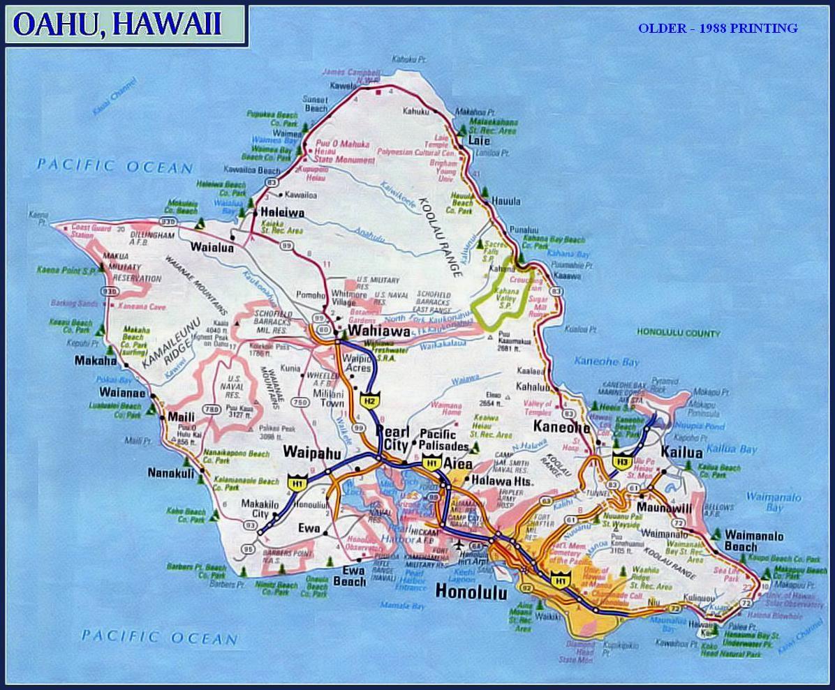 Go To Oahu Link Map Or All Oahu Hawaii Oahu Hawaii