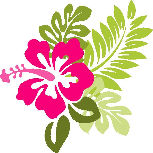 Fiori Hawaiani Disegni.Red Flower Clipart Moana 24 594 X 596 Dumielauxepices Net