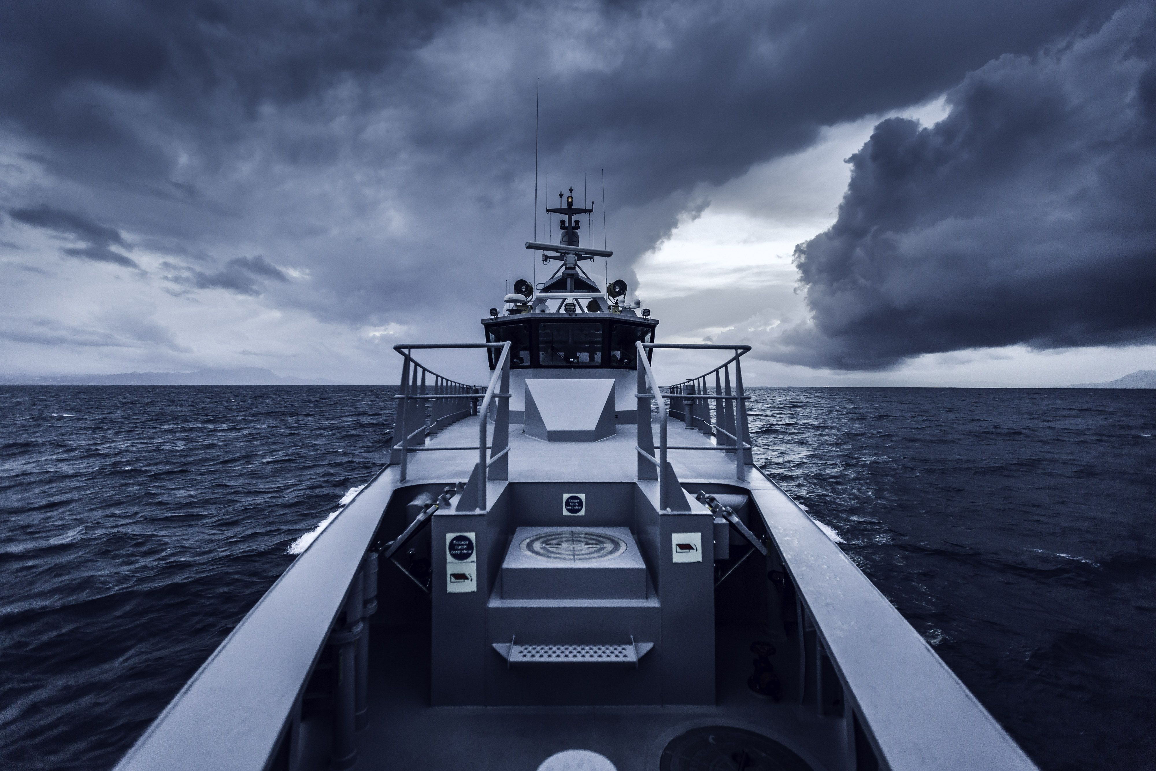 View From The Bow Of Sea Shepherd S New High Speed Patrol Vessel The Mv Ocean Warrior Image Simon Ager In 2020 Sea Shepherd Marine Ecosystem Shark Fishing