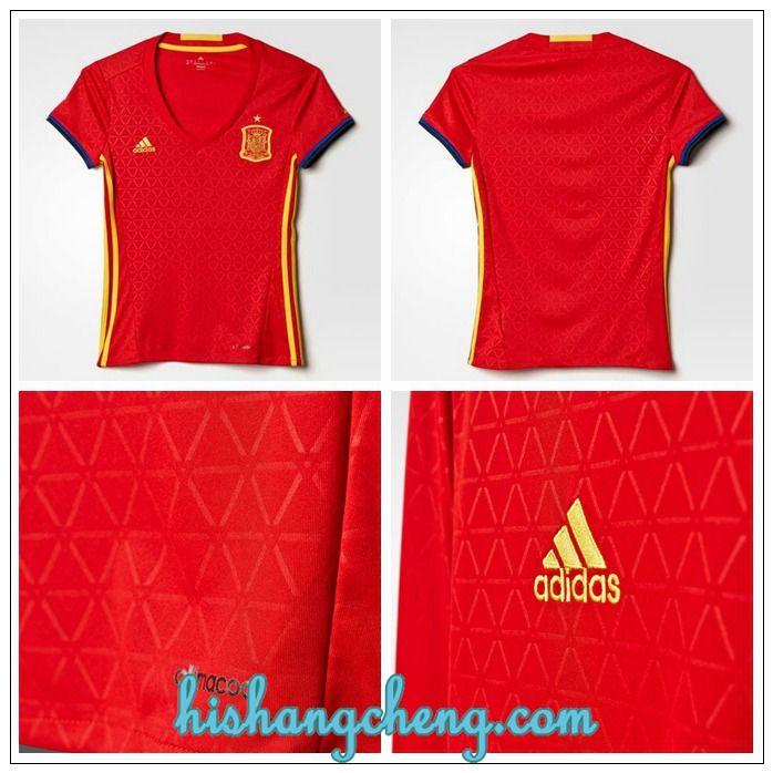 Boutique maillot Espagne Euro 2016 femme domicile moins cher