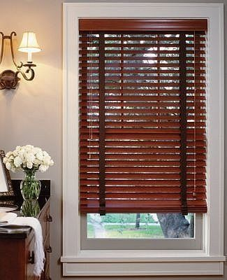 Yourblinds Premium 2 Faux Wood Blinds With Crown Royale Valance Stains Faux Wood Blinds By Premium 2 Faux Wood Wooden Blinds Faux Wood Blinds Wood Blinds
