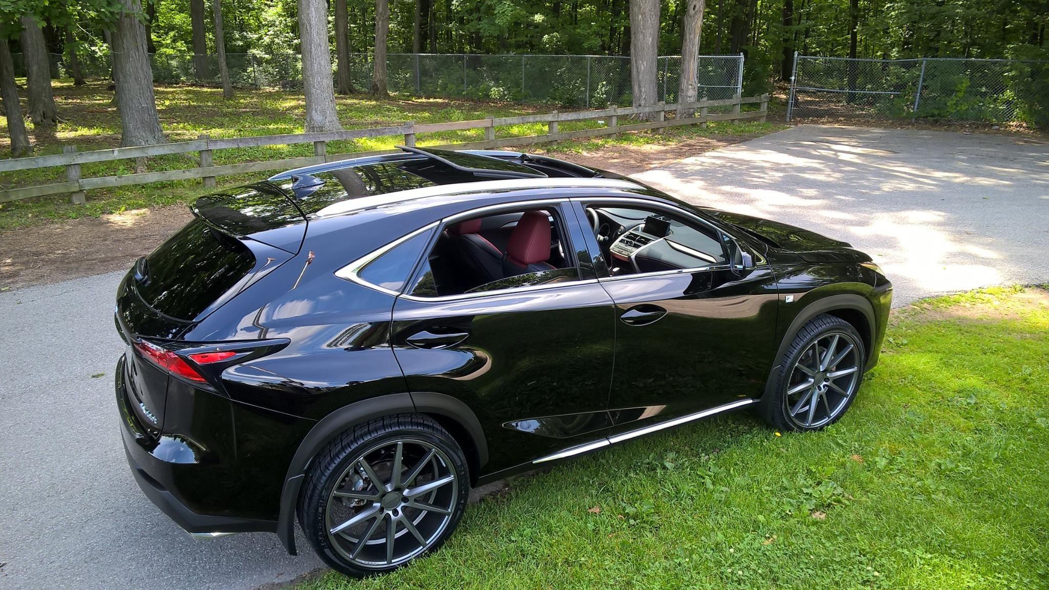 Lexus NX FSport on Matte Graphite Vossen VFS1 Lexus suv