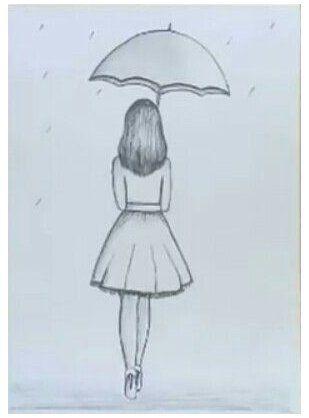 girl drawing sketches teenage simple