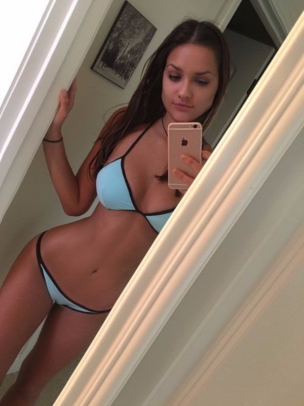 Can of very hot brunette teen something