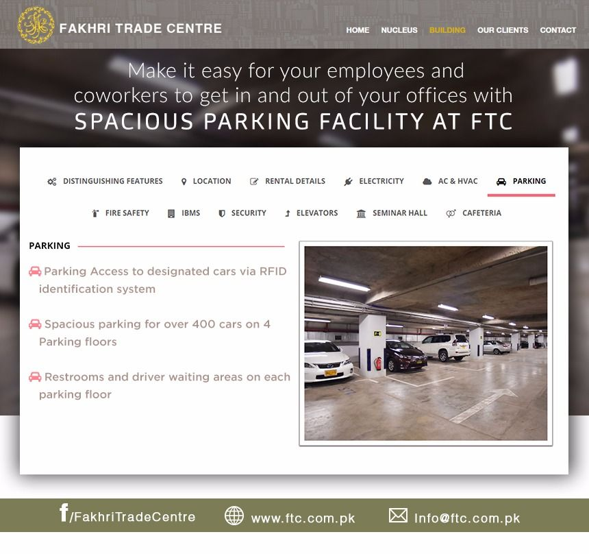 Spacious Parking Facility At FTC Visit The Website For More Details Ftc
