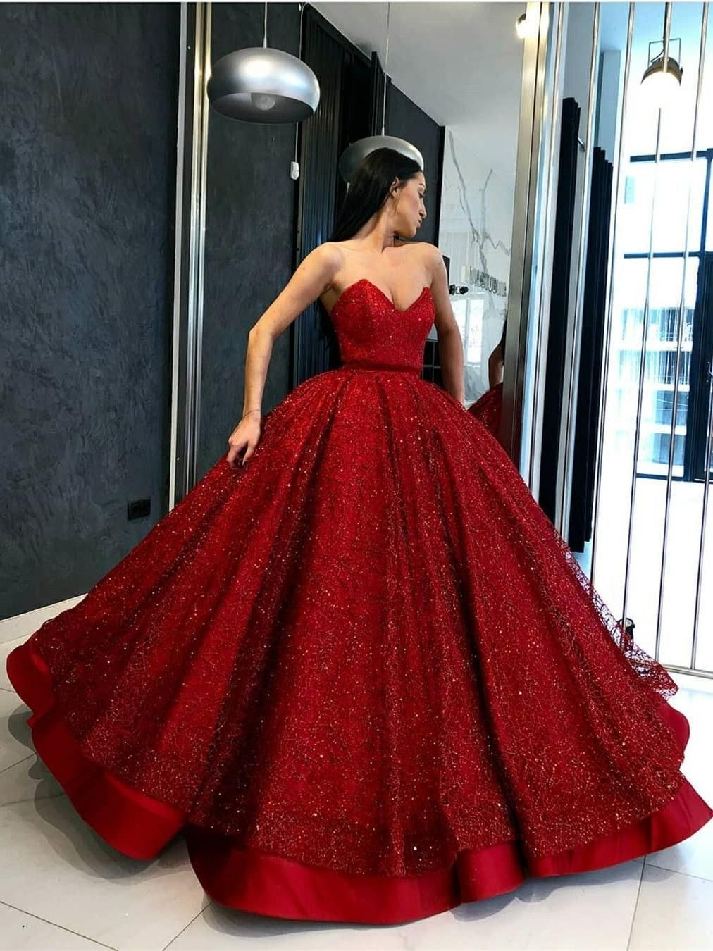 modest sweetheart burgundy beaded ball gowns, fashion quinceanera