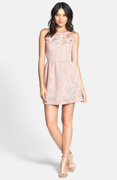 370f51f47a9 BB Dakota  Adling  Floral Cotton Fit Flare Dress available at  Nordstrom