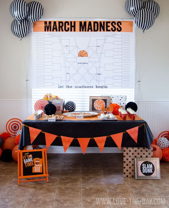 March Madness PRINTABLE Bracket!