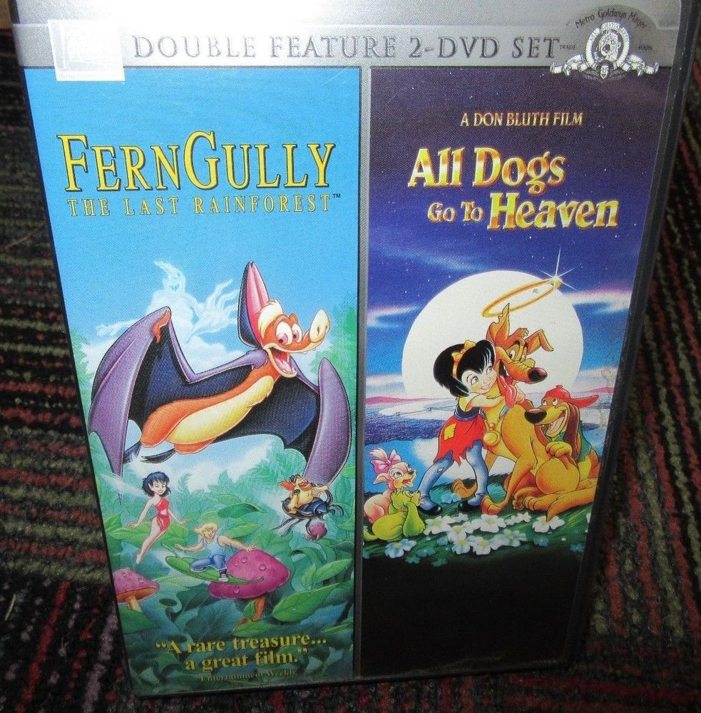 Ferngully Last Rainforest All Dogs Go To Heaven Double Feature