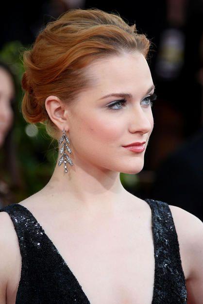 Evan Rachel Wood Hollywood Actresss And Singer Won The Golden Globe Emmy Awards Beautiful Elegance Fabolous Hairstyles