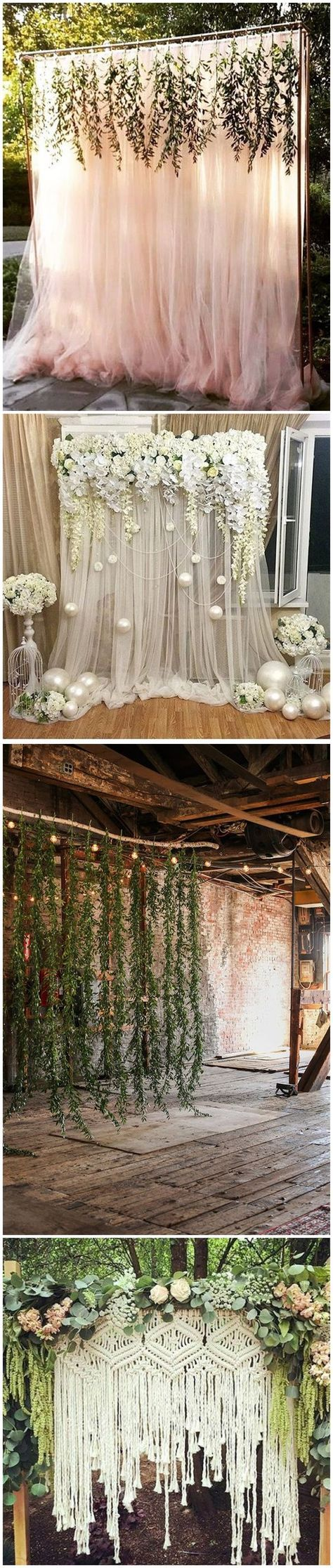 30 Unique and Breathtaking Wedding Backdrop Ideas ...
