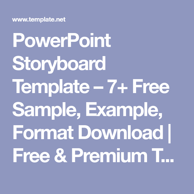 Powerpoint Storyboard Template 7 Free Sample Example Format