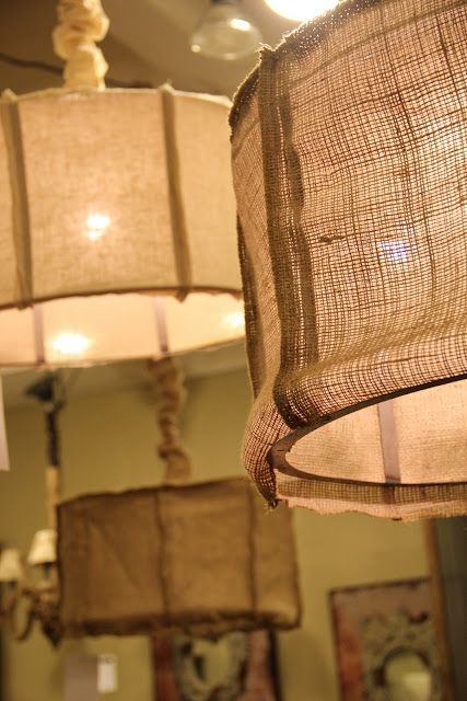 cant get enough of burlap shades