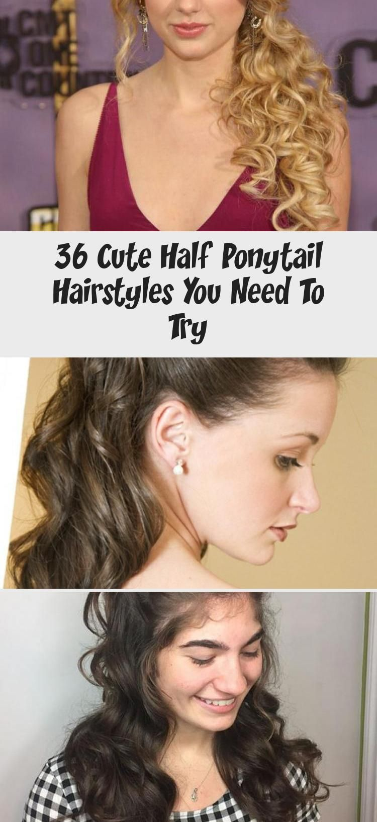 36 Cute Half Ponytail Hairstyles You Need To Try Hairstyle In 2020 Half Ponytail Try On Hairstyles Ponytail Hairstyles