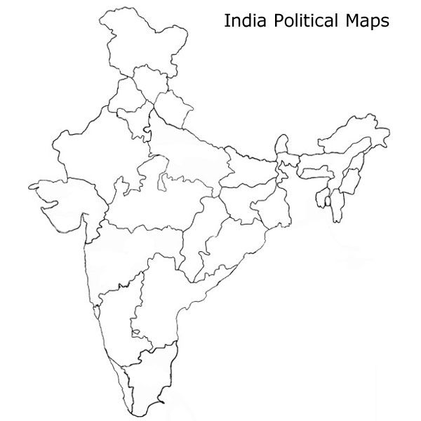 India Map, Map, Political Map