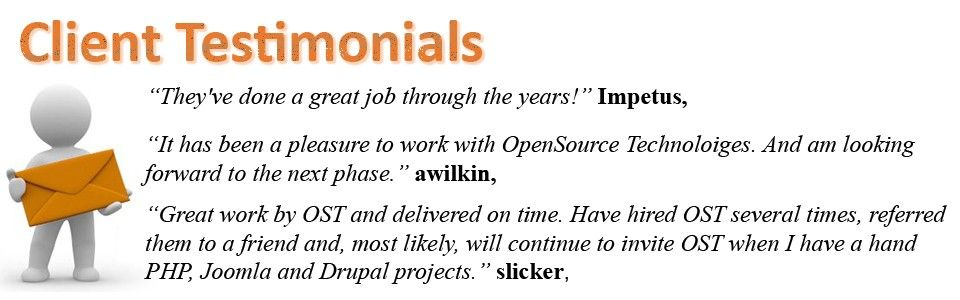 client testimonials of OpenSource Technologies. Here you see what our clients said about us.