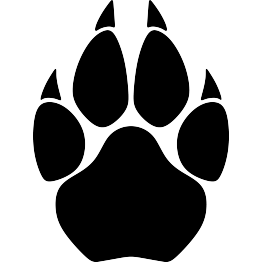 cougar paw print silhouette tattoos pinterest silhouettes rh pinterest com au Panther Clip Art free clipart of cougar paw