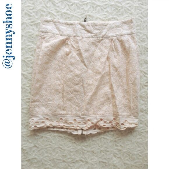 {urban outfitters} cream lace skirt A beautiful cream lace skirt with a full back zipper that is fully lined. No stretch. From urban outfitters, the brand is by corpus.  Size 0. Gently worn. Urban Outfitters Skirts