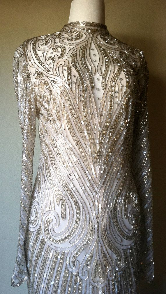 Vintage Bob Mackie Beaded Evening Cocktail Formal by JettVintage ...