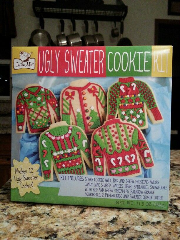 Ugly Sweater Cookie Kit Including Cookie Cutter Available At Wal