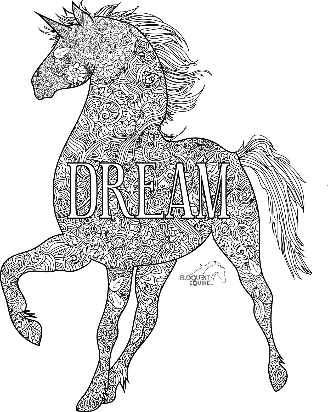 Unicorn Dream Colouring Pages Colorful Pictures Painting Patterns