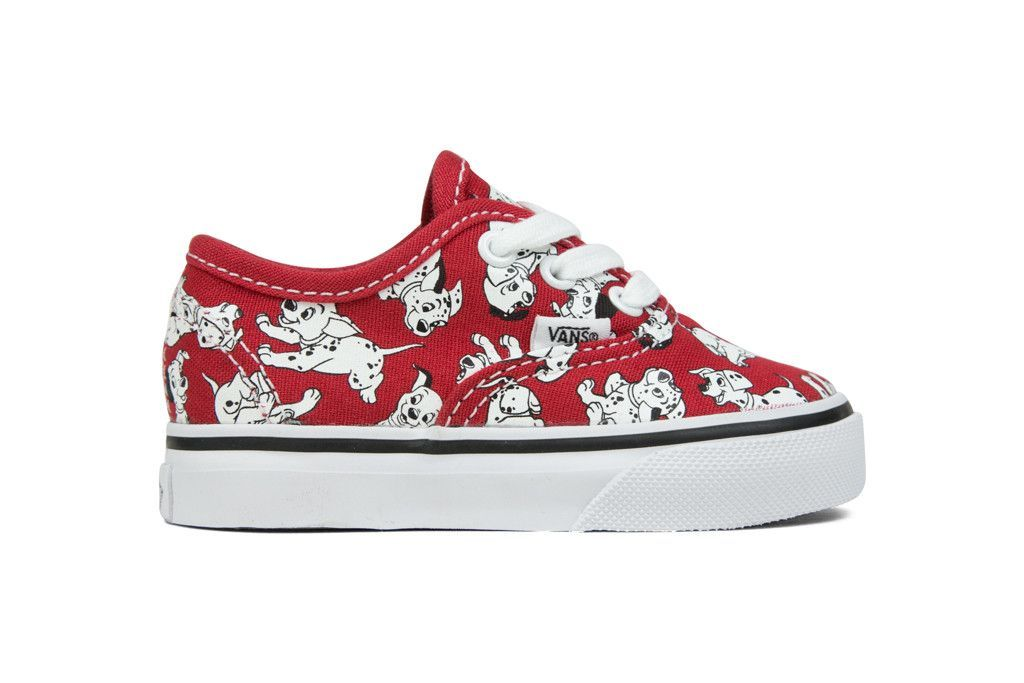 Vans Toddler Disney Authentic Dalmatians Red Baby Girl Shoes