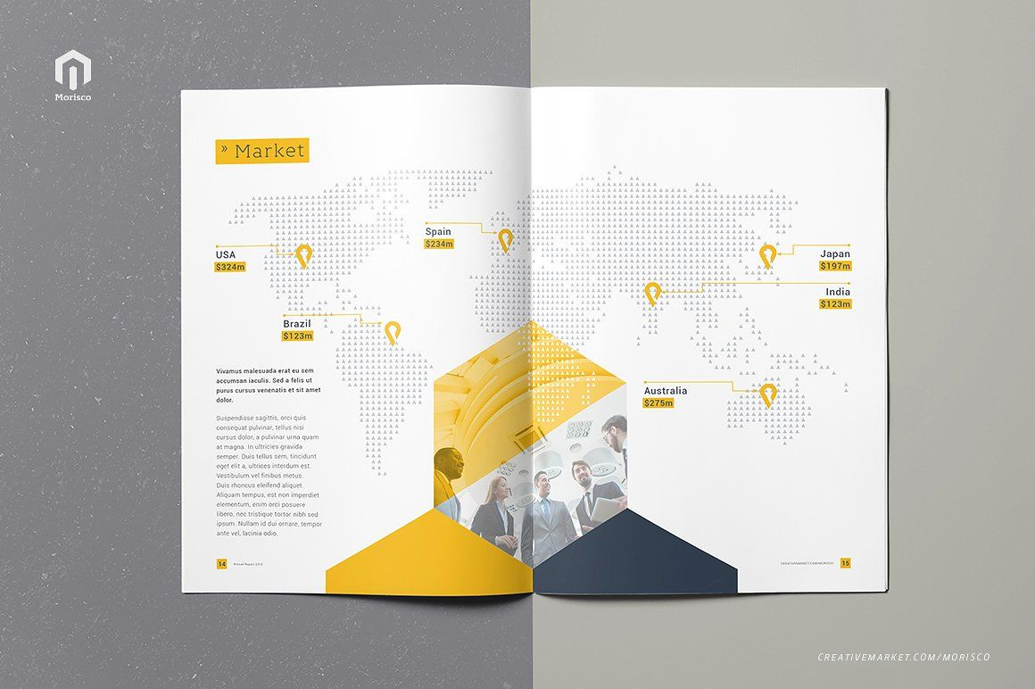 Annual Report 2016 Indesign brochure templates, Annual