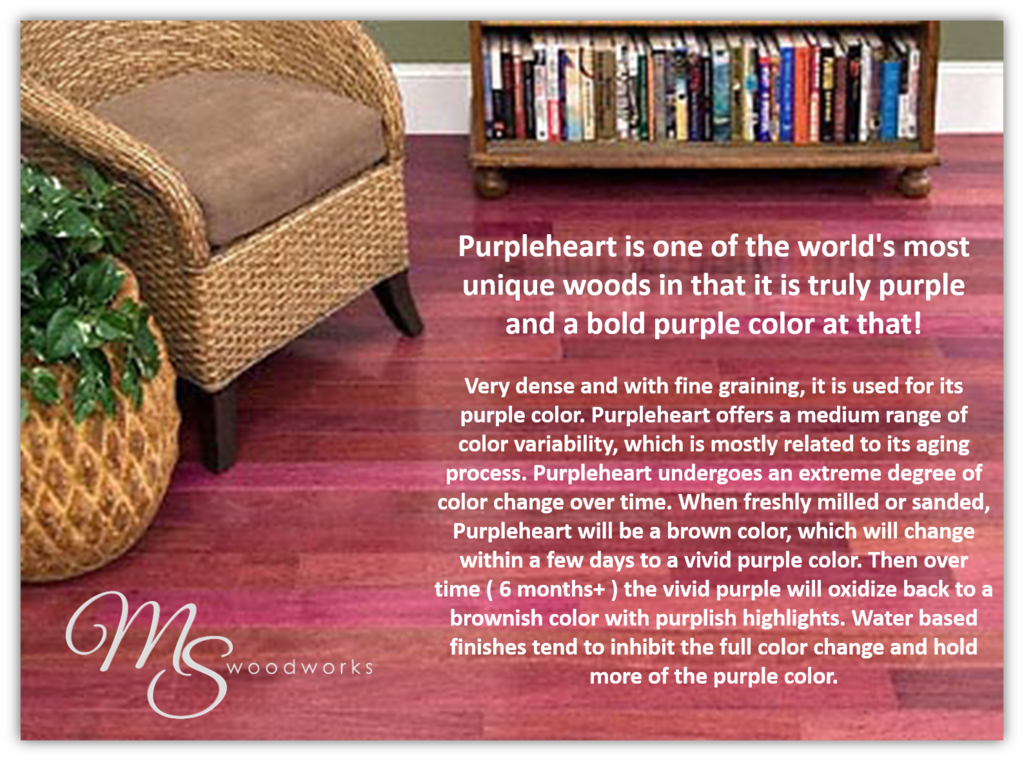 Dare to be different with purpleheart wood flooring for Purple heart flooring