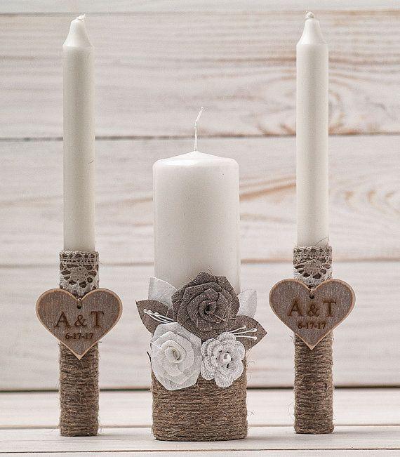 Monogramm Einheit Kerzen Hochzeit Einheit Kerze Zeremonie Kerzen