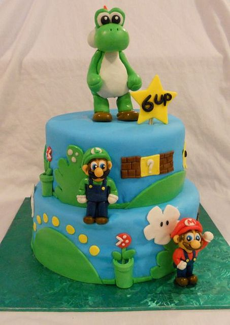 Yoshi Mario And Luigi Birthday Cake Delivery To Bronx NY By BearHeartBaking Via Flickr