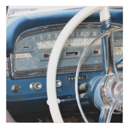 1959 Classic Car Dashboard Faux Canvas Print   Zazzle.com