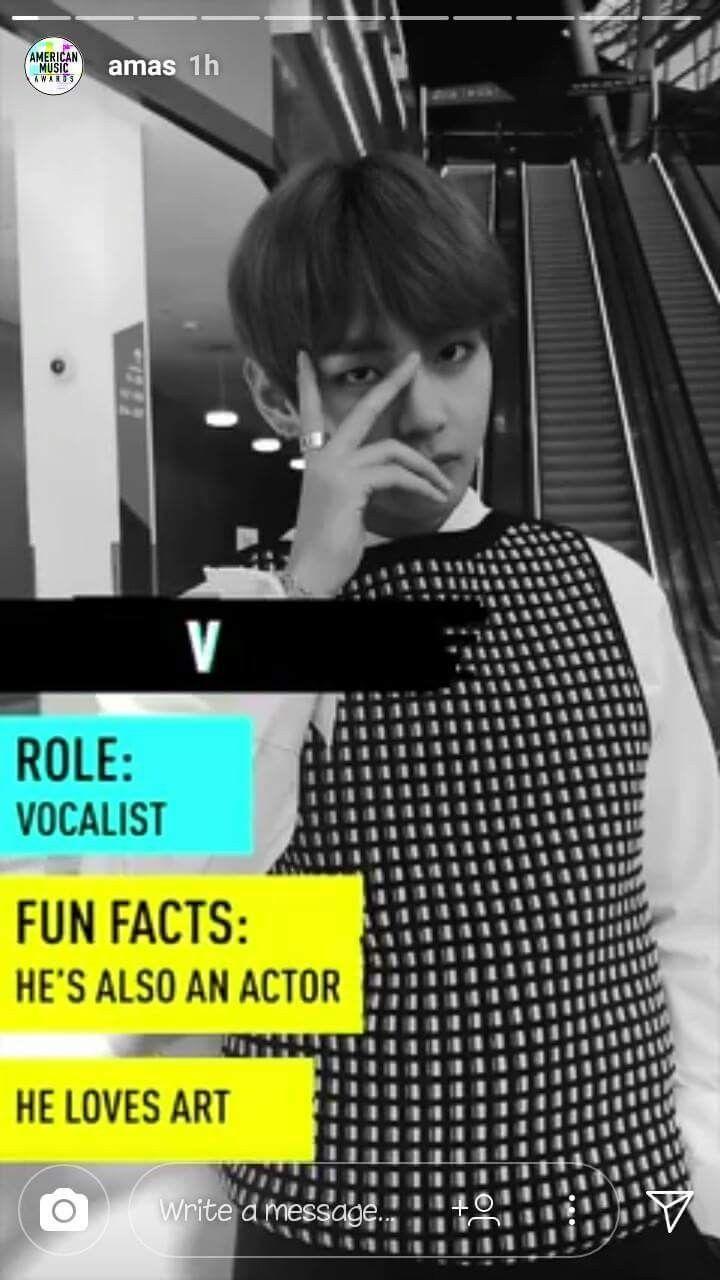 AMA's | V [Taehyung]
