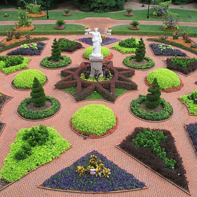 Victorian landscaping Missouri botanical garden, Garden