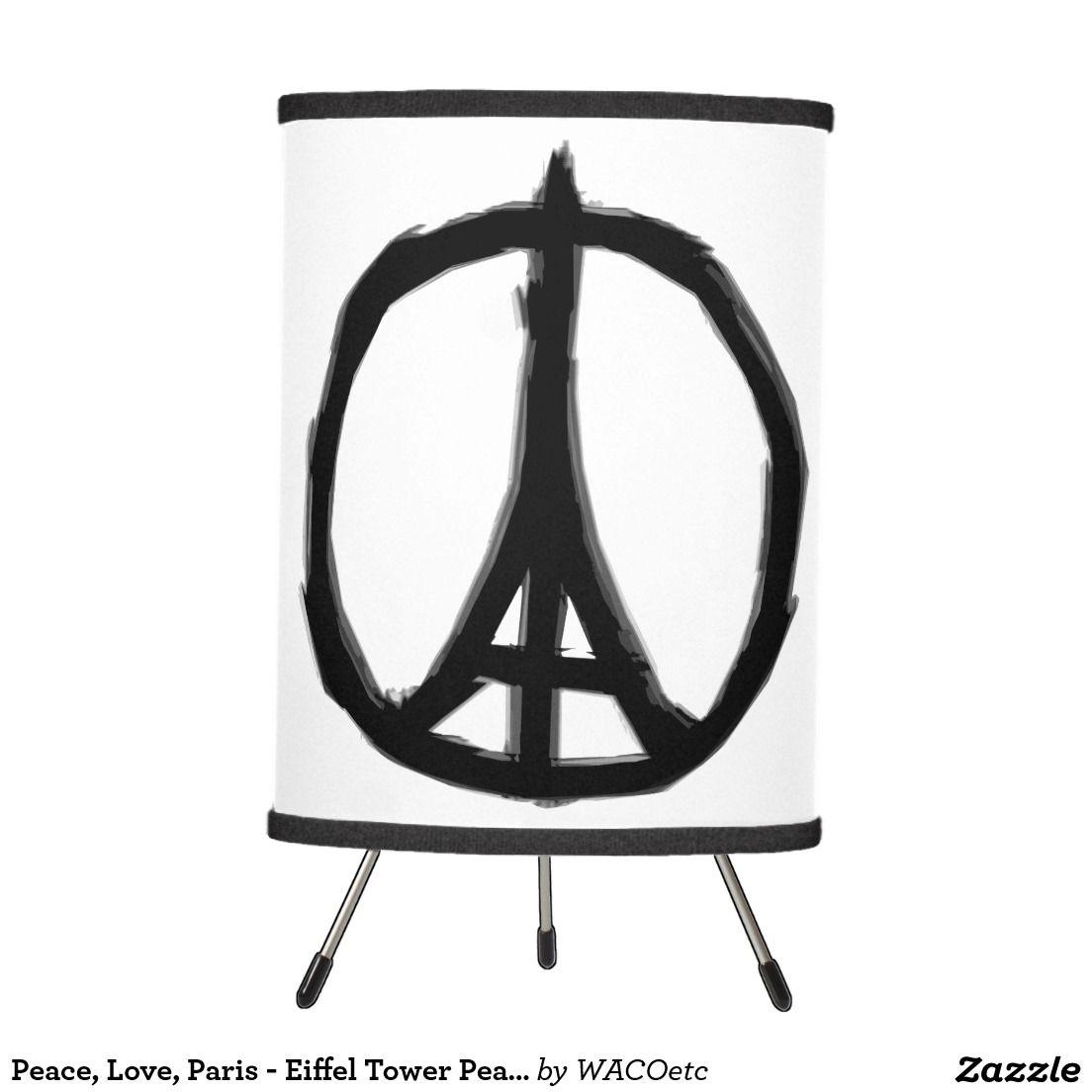 Peace Love Paris Eiffel Tower Peace Symbol Tripod Lamp Paris Eiffel Tower Tripod Lamp Lamp