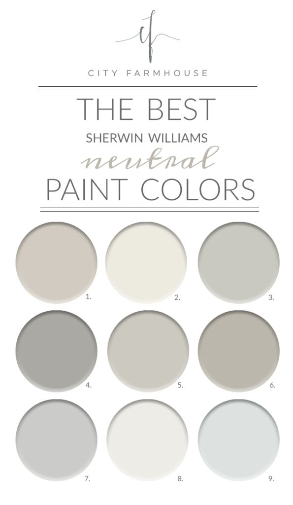 best neutral paint colors The Best Sherwin Williams Neutral Paint Colors | My City Farmhouse  best neutral paint colors