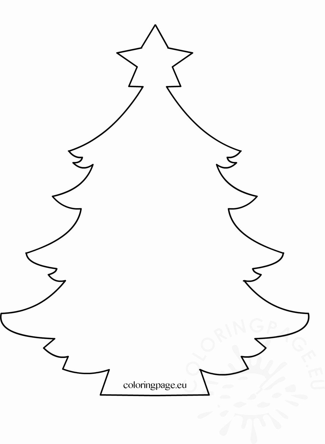 Free Christmas Tree Coloring Pages Beautiful Of Larch Tree Coloring Pag Christmas Tree Template Christmas Tree Coloring Page Printable Christmas Coloring Pages