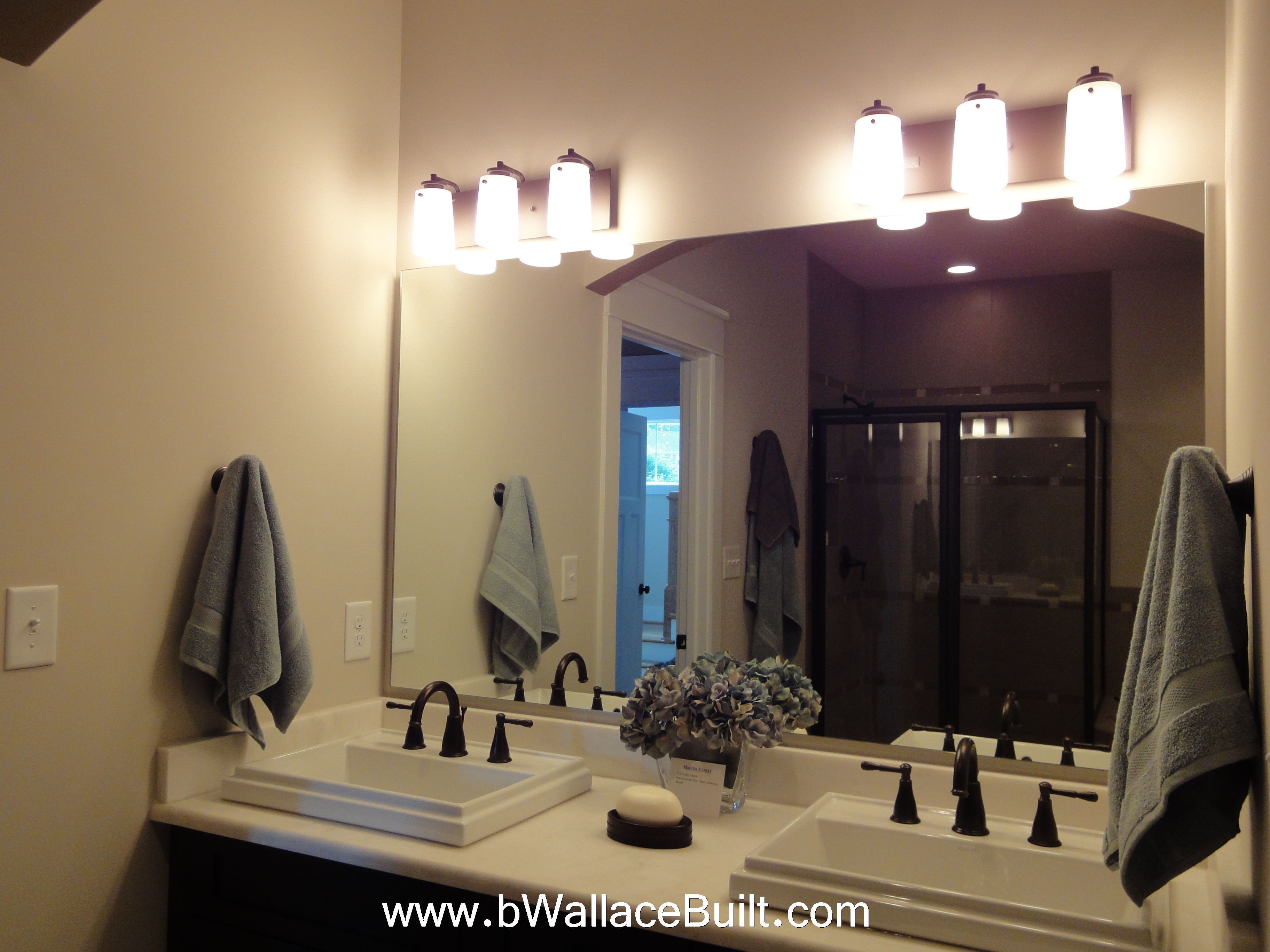 love this double vanity | Luxury townhomes, Lighted ...